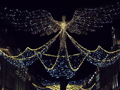 Spirit of Christmas, Regent Street lights, London 2019 (Cybermyth13) Tags: spiritofchristmas christmas regentst lights night london londonist england uk westend centrallondon decorations