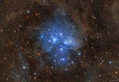 Stardust of the Pleiades (M45) (Martin_Heigan) Tags: pleiades m45 martinheigan sevensisters starcluster astronomy astrophotography widefield lrgb rgb gasanddust dustclouds deepsky space universe nebula reflectionnebula starstuff stardust dso hdr openstarcluster interstellardustclouds taurus southernhemisphere mhastrophoto astrometrydotnet:id=nova3781722 astrometrydotnet:status=solved
