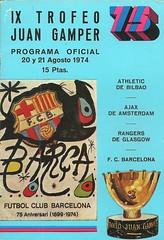 Joan Gamper Trophy 19740820 (tcbuzz) Tags: fc barcelona football club joan gamper trophy nou camp spain rangers scotland athletic bilbao ajax amsterdam netherlands programme