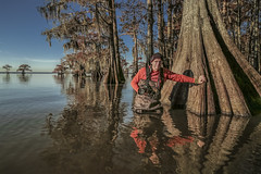 Deep in the Bayou (Alfred J. Lockwood Photography) Tags: alfredjlockwood portrait cajuncountry louisiana bayou cypresstree reflection autumn afternoon