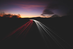 335/365 - Sunset Light Trails