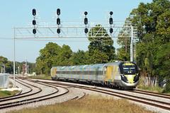 BrightBlue (TolgaEastCoast) Tags: usa trains virgin brightline railroad port train river coast little florida miami north railway east lead fec portmiami