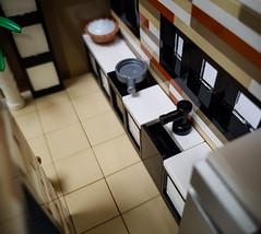 Curry House MOC. In the kitchen. (betweenbrickwalls) Tags: lego moc kitchen design interior interiordesign dog