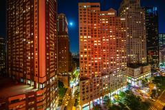 His New York Valentine (Thomas Hawk) Tags: america manhattan newyork newyorkcity usa unitedstates unitedstatesofamerica architecture moon fav10 fav25 fav50 fav100