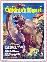 Children's Digest - Dinosaurs - Spring 1978 (StarRunn) Tags: childrensdigest dinosaurs trex tyrannosaurusrex brontosaurus magazinecover 1970s