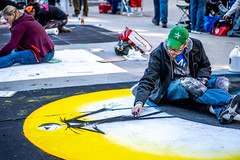 2019 Via Colori Festival (burnt dirt) Tags: houston texas candid documentary street photography downtown city urban metro outdoor people person fujifilm xt3 fujinon 50mm f2 style fashion life real crowd group emotion expression portrait close art artist chalk pastel paint line sidewalk scare crow yellow sun