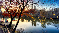 Central Park Lake at Near Dusk (Eric Gross Photography) Tags: reflection centralpark newyork westside upperwestside lake water light urban manhattan