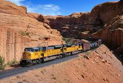 Big MACs in Bootlegger (Moffat Road) Tags: unionpacific up potashbranch upcanecreeksub redrocks canyon emd sd9043mac 8024 potash utah train railroad locomotive ut formerriogrande bootleggercanyon