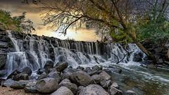 Sunset at the Waterfall - Explored (Sharky.pics) Tags: autumn usa october wisconsin whitnallparkwaterfall whitnallpark halescorners unitedstates fall unitedstatesofamerica 2019