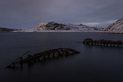 Териберка (gubanov77) Tags: teriberka teriberkariver travelphotography travel kolapeninsula russia north russiannorth winter tourism landscape nature nationalgeographic ships abandonedships dusk twilight murmanskregion mountains
