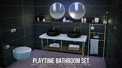 BackBone Playtime Bathroom Set (BackBone SL) Tags: playtime bathroom sink toilet backbone fameshed aeros inm