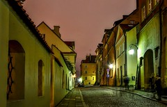 Warsaw - narrow streets of the Old Town (adenkis) Tags: city night street oldtown