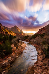 Sunset - Zion, 2019 (Dino Sokocevic) Tags: zion nationalpark nationalparkservice nature landscape nikon ultrawide utah utahphotographers river southwest wildwest