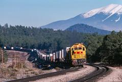 ATSF 5823 West at Williams Jct., AZ (thechief500) Tags: atsf arizonadivide bnsf railroads seligmansubdivision williamsjct az usa santaferailway arizona
