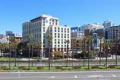 Gaslamp Quarter - San Diego, California (russ david) Tags: gaslamp quarter neighborhood san diego california architecture ca travel hotel hilton palm trees march 2019