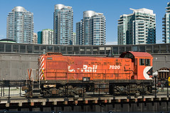 12-3001 (George Hamlin) Tags: canada ontario toronto railway lands downtown high rise buildings residential canadian pacific alco s2 switcher diesel locomotive historical association john street roundhouse museum turntable photodecor george hamlin photography