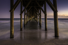 Cathedral Sunset (Longleaf.Photography) Tags: surfcity beach coast topsail island nc pier cathedral sunset waves wilmington sea
