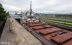 Soo Locks (Kirk Stauffer) Tags: kirk stauffer photographer nikon d5 october 2019 great lakes lake superior huron ship shipping boat craft cargo freight transport move haul traffic vessel pass tons st marys river mary's rapids canal national historic landmark chamber macarthur poe davis sabin hydroelectric plant electricity operate maintain army corps engineers detroit district chippewa county