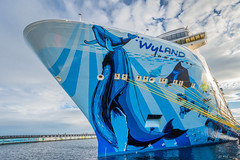 """Blissfill """"Norwegian Bliss"""" (Picture-Perfect Pixels) Tags: bc ogdenpoint vancouverisland victoria cruiseship norwegianbliss mammoth mural wylandmural blues wyland docked"""