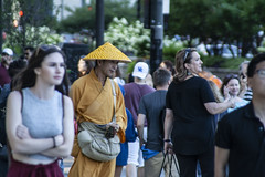 Shao Con (jfre81) Tags: chicago michigan avenue millennium park fake monk hustler con man tourists pedestrians peddlers hucksters people 312 windy city urban james fremont photography jfre81 canon rebel xs eos