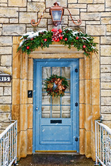 Christmas Welcome (s.w.Lepak) Tags: welcome frontdoor christmas snow wreath swag
