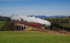 35018 On Docker Viaduct. 01/12/2019. (briandean2) Tags: 35018 britishindialine merchantnavypacifics westcoastmainline dockerviaduct docker cumbria westcoastrailways railways steam uksteam ukrailways