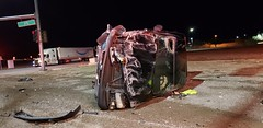 Roll over collision on CC215 at Range Road (Summerlin540) Tags: