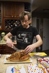 The Carver (evaxebra) Tags: thanksgiving ryan carving turkey dinner knife meat cutting