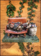 City Jungle.... (Sherrianne100) Tags: humorous creative whimsical hbm bench artist pottery aalborg denmark