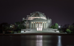 Jefferson Memorial (Fret Spider) Tags: jeffersonmemorial monument dc washingtondc reflection pool capital restoration architecture night longexposure fujifilmgfx50s sonnar1352ze sonnarapo1352ze aposonnart2135 zeiss carlzeiss mediumformat thanksgiving holiday travel visit wife afterdark morning dawn tidalbasin