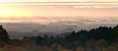 Foggy Willamette Valley Sunrise (Rob Hallyburton) Tags: sunrise oregon panorama fog foggy willamette valley