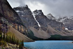 Towering Mountain Peaks Around Moraine Lake (Banff National Park)