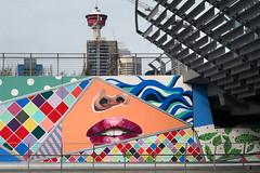 Urban colors Calgary. (Bernard Spragg) Tags: corridorofconnection calgarian michellehoogveld calgary colours murals art street urban lumix compactcamera ts200 tz200