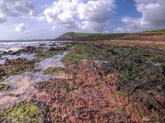 Photo of Manorbier Beach rock formations