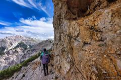 AV3 around Croda Rossa d'Ampezzo 10 (NettyA) Tags: madewithluminar 2019 av3 altavia3 crodarossa crodarossadampezzo dolomites europe fanessennesbraiesnaturalpark hohegaisl italy luminar4 parconaturalefanessenesbraies unescoworldheritage aidedtrail chains clouds hike hikers hiking mountains rock steeptrail track trail