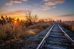 Morning Track Side (Neil Cornwall) Tags: 2019 canada november ontario wcf windsor fall sunrise