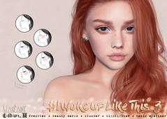 WarPaint* @ Anthem - #IWokeUpLikeThis3 (Mafalda Hienrichs) Tags: warpaint war paint secondlife anthem event new release cosmetics applier freckles iwokeuplikethis catwa genus project lelutka omega bakesonmesh bom