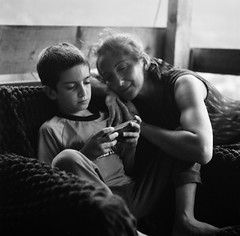 (Suharik moi) Tags: ilford film analog 6x6 120mm mamiya georgia svaneti family mother bw