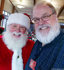 Two Guys with Beards (Jim Frazier) Tags: 2019 20191201cantignysanta 2019cantigny lejardin beards cantigny cantignypark christmas december dupage dupagecounty eyecontact il illinois jimfraziercom me ofme parks people portrait portraiture q3 santa santaclaus self selfportrait selfie sizeover1000 strobes wheaton winter smiles