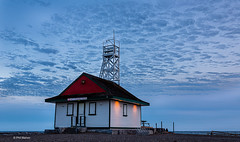 Leuty Lifeguard Station at dusk - Kew Beach, Toronto (Phil Marion (177 million views - THANKS)) Tags: sunrise sunset dusk fun shadows hdr snow art model feet canon5diii 5d3 canon toronto canada candid architecture street portrait landscape wildlife nature explored bird urban flowers macro insect sony nikon longexposure ontario phil marion philmarion philippemarion explore skyline cityscape home sky water outside beach dog old young indoors travel night smiling