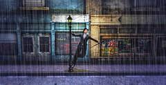 """ Singing in the Rain "" (maka_kagesl) Tags: secondlife sl game virtual videogame photography portrait photo picture pic pose posing avatar avi snap snapshot screenshot rain movie scene street building"