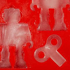 Ice Robots (jolynne_martinez) Tags: kansascity mo unitedstatesofamerica macromondays red robot key icecube tray nikkor nikon nikond60