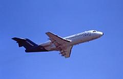 PH-CHF F28 KLM BhX 22-08-95 (cvtperson) Tags: phchf fokker f28 klm birmingham bhx egbb
