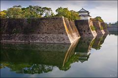 Fortress (katepedley) Tags: osaka osakajo castle fortress reflection kansai japan nihon moat wall stone morning autumn water lake canon 5d 1740mm polariser shapes geometric angles light