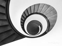 Nürnberg - Up and down the stairs (6) (Karsten Gieselmann) Tags: 1240mmf28 architektur em1markii mzuiko microfourthirds monochrome olympus schwarzweis treppenhaus architecture bw blackwhite kgiesel m43 mft mono sw staircase stairs