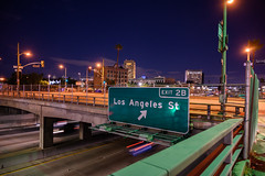 Los Angeles Street exit US 101, Santa Ana Freeway (vision63) Tags: dsc5045 los angeles california spring aliso street hollywood evening night road sign shadow