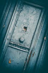 Cyclops Door Monster (Katrina Wright) Tags: france nîmes provence dsc7309edit3 monster cyclops door weathered damaged worn texture line pattern old letters lettres knob doorknob pareidolia