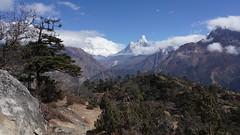 Vallée du Khumbu et Ama Dablam (Sam Photos - Sony full frame) Tags: vallée khumbu amadablam népal nepal everest montagne himalaya trek randonnée altitude neige automne autumn camp base