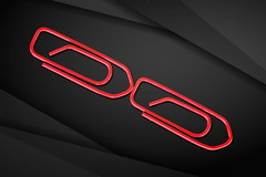 Red Paper Clips (andycurrey2) Tags: macromondays red black paperclips paper macro minimalist contrast