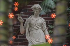 JMC_1710statuesnowflakebokeh1jsm (JayEssEmm) Tags: tower hill botanic garden boylston massachusetts ma